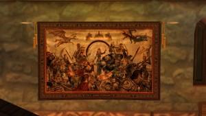 Die Wandtrophäe anlässlich des 13. Geburtstags von Dark Age of Camelot